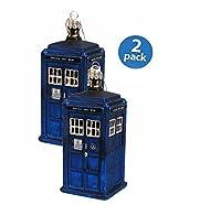 Kurt Adler Doctor Who Tardis Figural Ornament (Glass)…