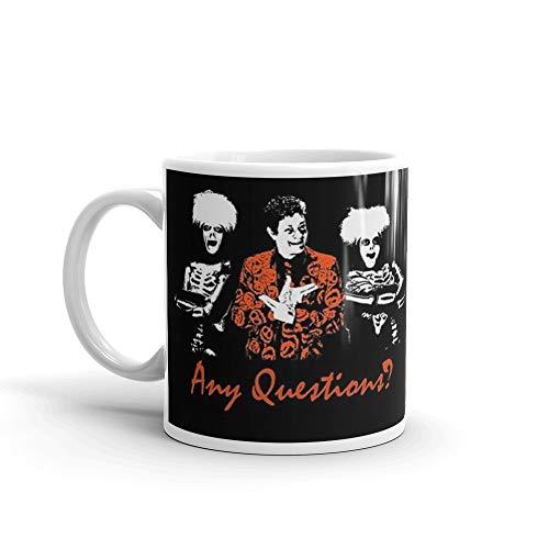 Any Questions? (David S. Pumpkin) 11 Oz White Ceramic ()