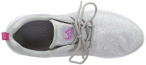 L.A. Gear Sunrise - Zapatillas Mujer Silber (Silver-LT Grey 02)