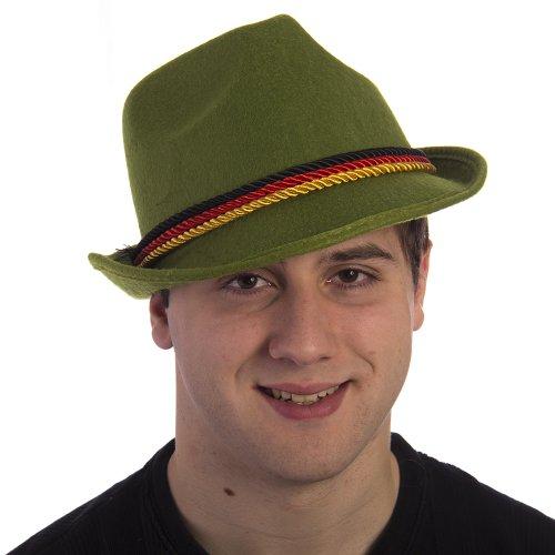 HMS Men's Oktoberfest Hat, Green, One Size - Sim Costume