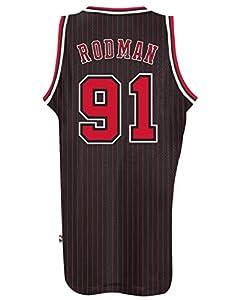 Dennis Rodman Chicago Bulls Adidas NBA Throwback Swingman Jersey - Black