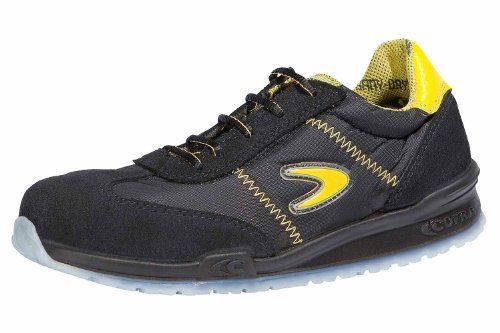Cofra Sicherheitsschuhe S1P Owens Running sportliche Halbschuhe, Große 45, schwarz/gelb, 78400-000