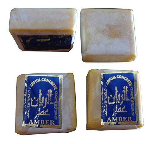 Original Body Total Deodorant (4 Amber Jamid Natural Fragrance Solid Musk Original Islamic Perfume Non Alcohol)