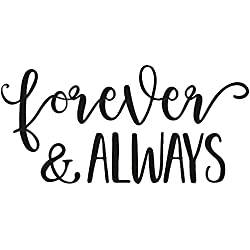 Rayher 29123000 Wood Mounted Rubber Stamp Featuring The Phrase Forever & Always, Stamps Wedding, Crafting, Card Making Scrapbooking, 12cm x 6cm