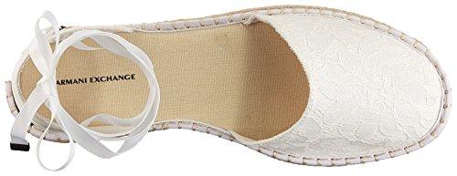 Women Armani Sandal Espadrille White Lace A Exchange Armani Exchange X gF6xnqpHwt