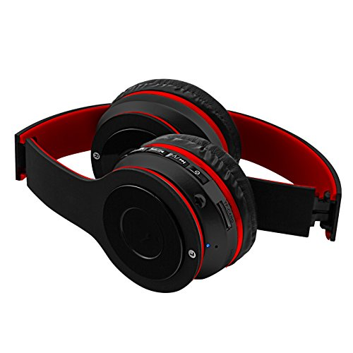 Amazon.com: Sentry Bluetooth, Stereo, Rechargeable, Folding Headband Headphones w/ Mic BT200 In Red: Home Audio & Theater