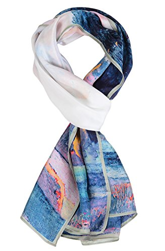 - Salutto Women 100% Silk Scarves Paul Gauguin Farm In Brittany Painted Scarf (4)