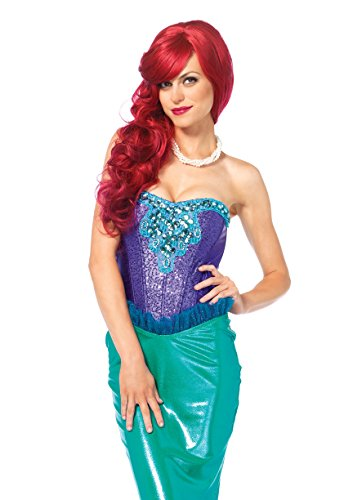 Mermaid Costumes For Womens (Leg Avenue Women's Deep Sea Siren Mermaid Costume, Green/Purple, Small)