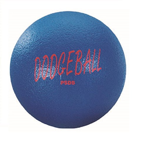 Martin Sports Perma Skin Foam Dodgeball, 6.3'' Diameter, Blue