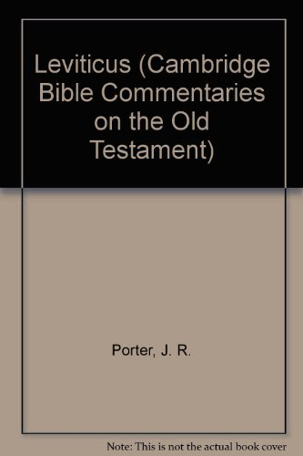Leviticus (Cambridge Bible Commentaries on the Old Testament)