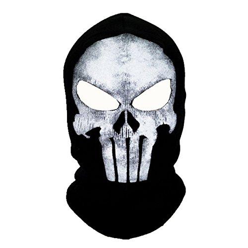 ECYC Unisex Ghost Skull Full Face Balaclava Masks Warmly Motorcycles Mask Hood Beanie Halloween Cosplay Mask ()