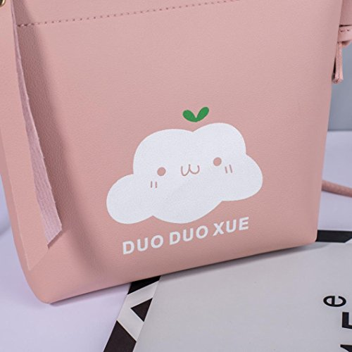 Fashion Bag Ladies Bags Handbag Bags Zipper Messenger Women Crossbody Muium Pink Shoulder Tassels Cloud Rgq8Zg0xw6