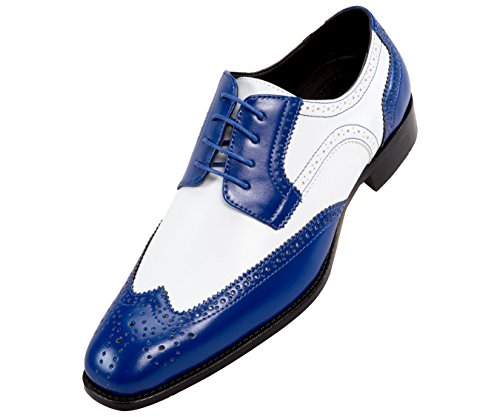 - Bolano Mens Classic Smooth Dress Shoe with Wing-Tip and Perforated Detailing Style Elwyn