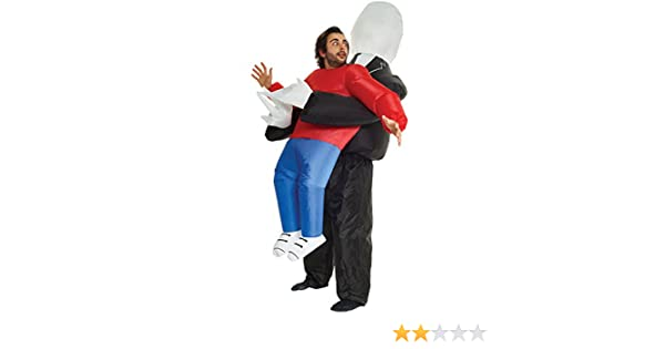 Morph Divertido Disfraz Inflable Slenderman Adultos - Una talla le ...