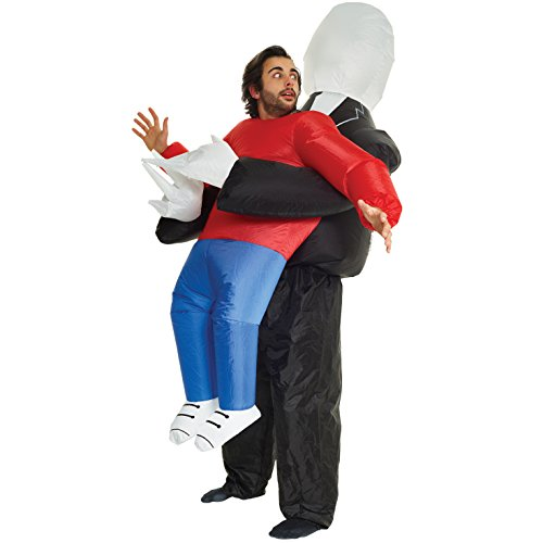 (Slenderman Pick Me Up Inflatable Blow Up Costume- One size fits)