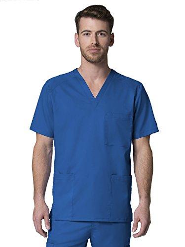 Maevn Men's EON Mesh Panel 3-Pocket V Neck Top(Royal Blue, X-Large) ()