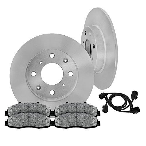 [ E30 ] REAR 258 mm Premium OE 4 Lug [2] Brake Disc Rotors + [4] Metallic Brake Pads + Sensors