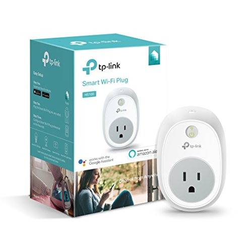 TP-Link Smart Plug HS100, No Hub Required, Wi-Fi, Control your Devices from Anywhere (Works with Alexa and Google Assistant)