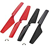 Traxxas LaTrax Alias Quadcopter 2 RED & 2 Black Rotor Blades & Screws Prop