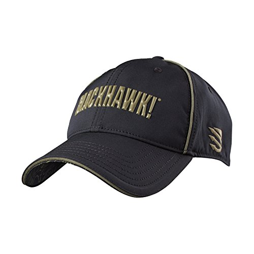 BLACKHAWK! Men's Performance Stretch Fit Cap, Large/X-Large, Black