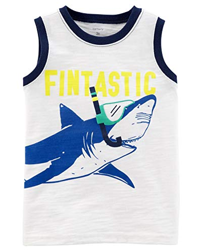 (Carter's Baby Boys' Shark Slub Jersey Tank, 24 Months )