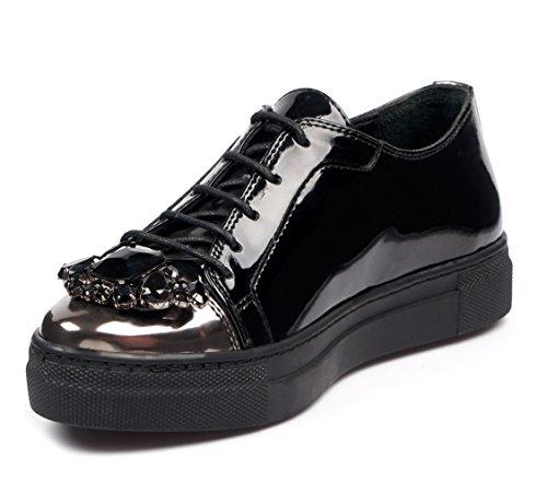 Zapatillas 10 Krista Fashion para US Mujer de Moda Sneakers Negro Coleccion BOBERCK wC7q64Ox