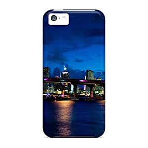 New Style R. Steven Evening Lights Of Miami Premium Tpu Cover Case For Iphone 5c