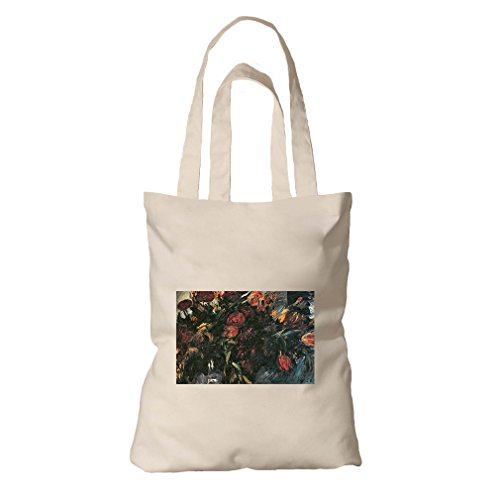 One Tulip Canvas (Red And Yellow Tulips (Lovis Corinth) Organic Cotton Canvas Tote Bag)
