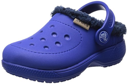 crocs ColorLite Lined Clog , Cerulean Blue/Navy, 11 M US Lit