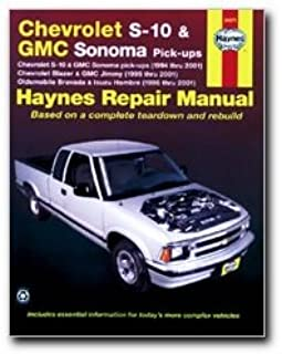 haynes repair manual chevrolet s 10 and gmc sonoma pick ups 1994 rh amazon com chevy s10 haynes manual pdf S10 Manual Transmission