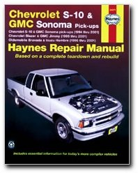 haynes chevrolet s 10 and gmc sonoma pick ups 94 01 manual rh amazon com 2001 chevy s10 owners manual 2001 chevy blazer owners manual online