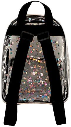 Fashion Angels Transparent Star Shaker Mini Backpack 77500 Clear Fashion Backpack with Stars