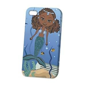 THYde Case Fun Apple iPhone 5/5s Case - Vogue Version - D Full Wrap - Blue Mermaid Cartoon ending