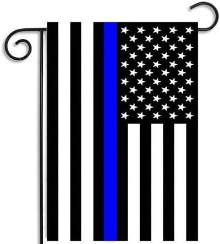 faylagee-yx delgada línea azul americano 12, 5 45, 72 x 45, 72 cm bandera de Jardín: Amazon.es: Jardín