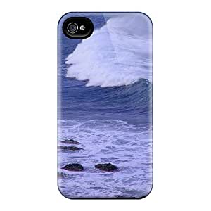 Premium KhV33573CQVt Cases With Scratch-resistant/ Blue Ocean Waves Iphone 5/5S