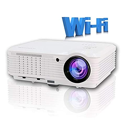 Amazon.com: DishyKooker LED Projector WiFi Android 4500 ...