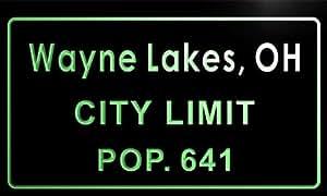 t81728-g Wayne Lakes village, OH City Limit Pop 641 Indoor Neon sign