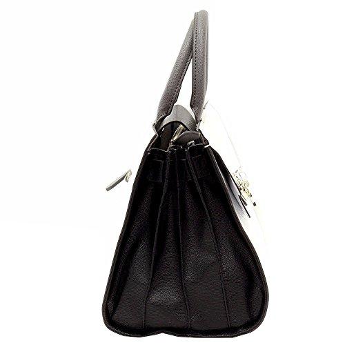 GUESS Cynthia Large Satchel Black Black (Schwarz)