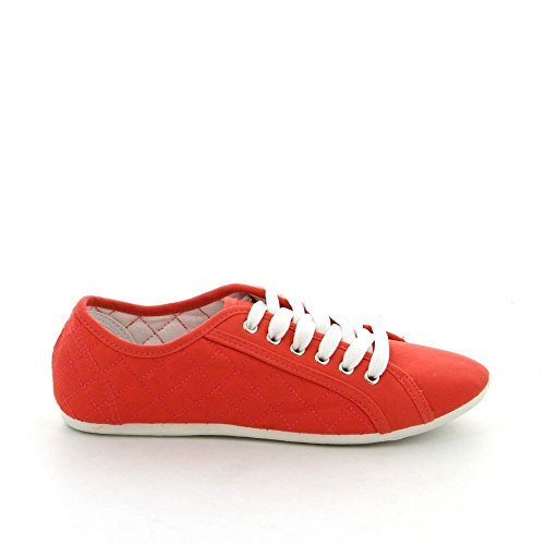 Ideal Shoes, Damen Sneaker Rot - rot ...