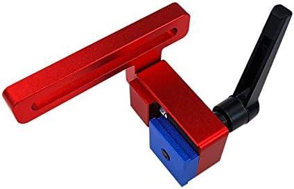 30型木工シュート特殊リミッターアルミニウム合金Tトラック木工標準マイタートラックストップ木工ツール-レッド&ブラック