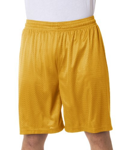 Badger Sport 9 Inseam Pro Mesh Shorts - 7209 - Gold - Large Size: Large Color: Gold, Model:, Office Accessories & Supply Shop (Sportswear Pro Mesh)