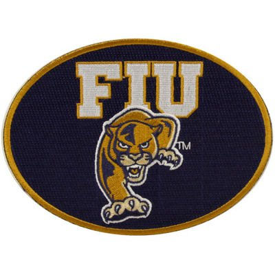 NEW Florida International Golden Panthers Peel & Stick Repositionable Embroidered Patch ()