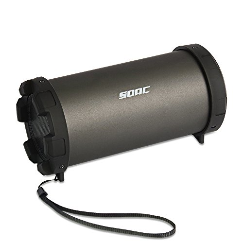 SOAC Portable Bluetooth Speaker, Outdoor Home Speaker for Party Camping, with Handheld Rope, 20W, Black by SOAC