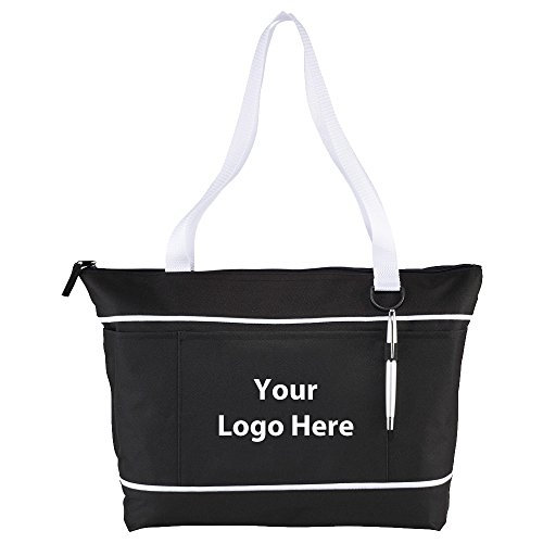 Zippered Multi-Pocket 11'' Tablet Tote - 72 Quantity - $7.50 Each - PROMOTIONAL PRODUCT / BULK / BRANDED with YOUR LOGO / CUSTOMIZED by Sunrise Identity