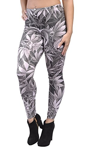 BadAssLeggings Women's Cannais Leggings Medium Gray