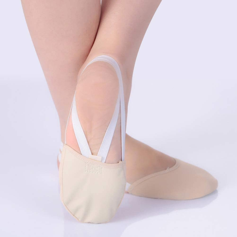 RGPros Knitted Half Sole Toe Shoes Socks for Professional Rhythmic Gymnastic Competition or Ballet Dance