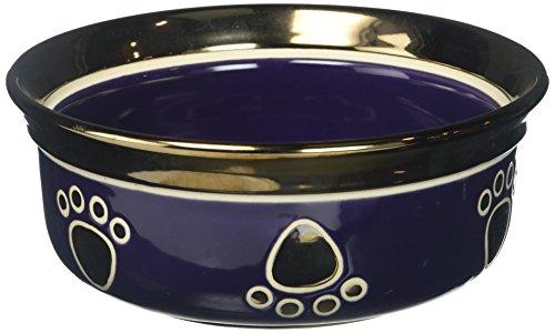 Image of Ethical Stoneware Dish 6891 Ritz Copper Rim Dog Dish Purple, 7 Inch