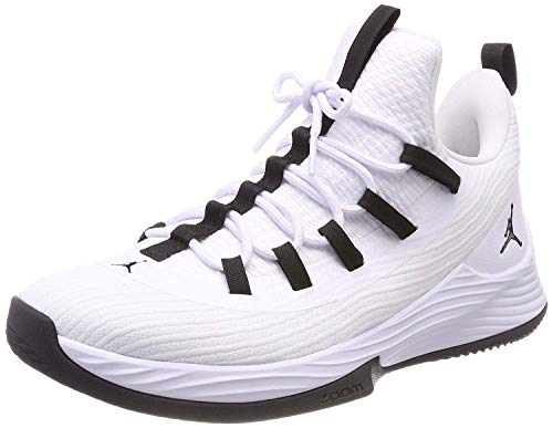 Jordan Mens Ultra Fly 2 Low Leather Hight Top Lace, White/Black-White, Size 8.0
