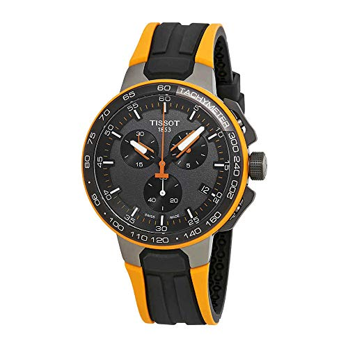 (Tissot Men's T-Race Cycling - T1114173744104 Black/Orange One Size)