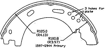 Parking Brake Shoe Rear OMNIPARTS 13077037